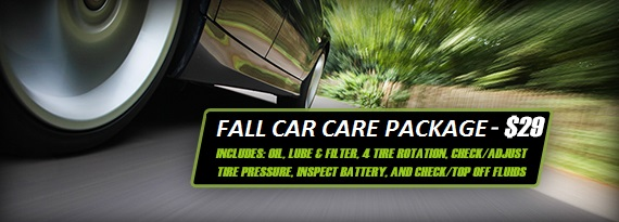 Fall Car Care Package $29